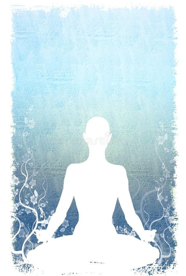 sittande yoga för bakgrund stock illustrationer