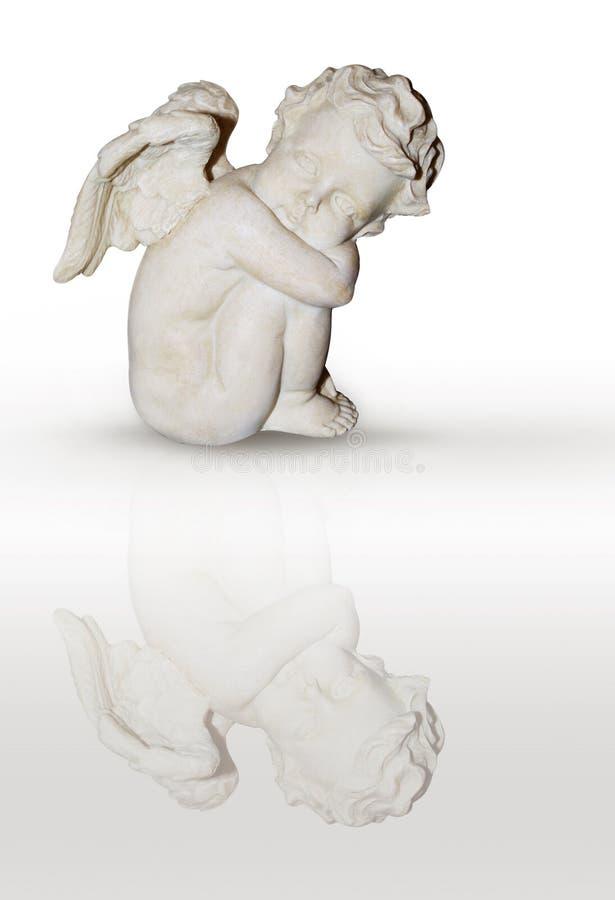 Sitting angel stock photos