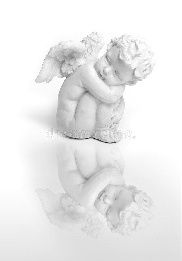 Sitting angel royalty free stock images