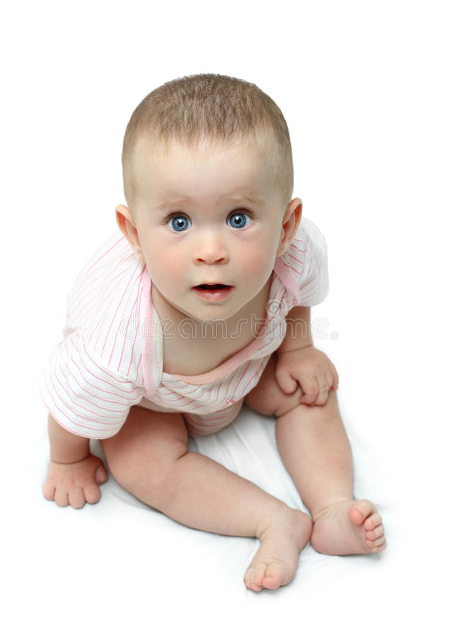 Download Sitting Baby Looking Up Stare Stock Photo - Image: 10241958