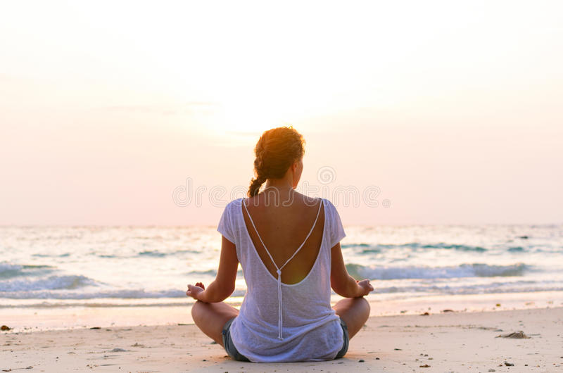 Download Sitting On Beach At Sunrise Stock Image - Image: 29495875