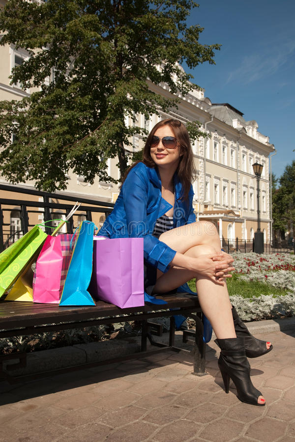 Download Sitting on the bench stock photo. Image of accessory - 28003918