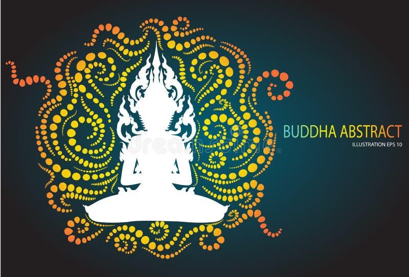 Sitting buddha abstract tradition design. Vector vector illustration