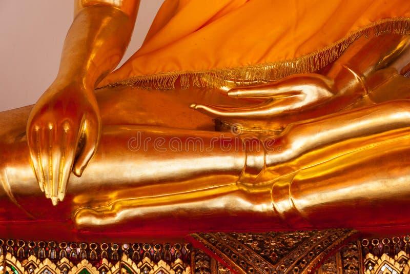 Sitting Buddha statue details, Thailand stock photography