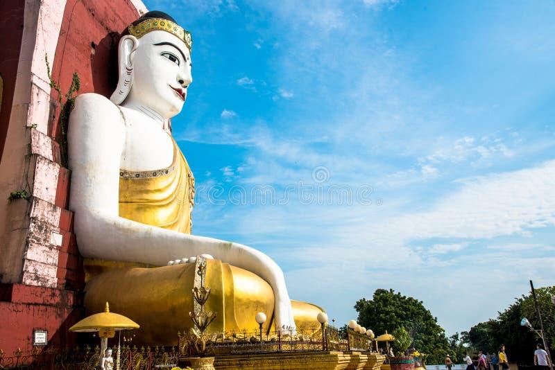 Sitting Buddha Statue in Kyaik Pun Pagoda royalty free stock photography