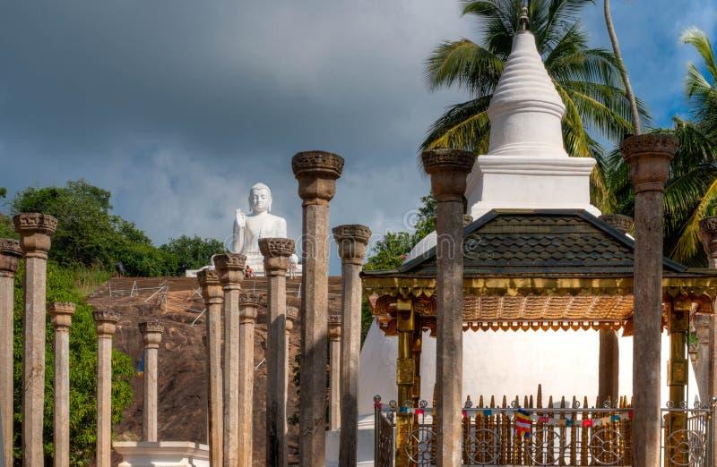 Sitting Buddha statue in Mihintale, Sri Lanka royalty free stock photos