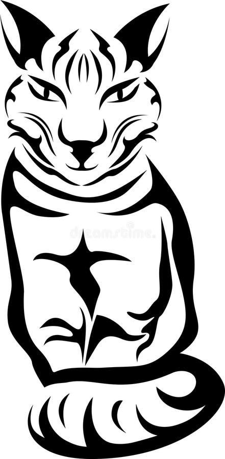 Download Sitting cat stencil stock vector. Illustration of clip - 33054078