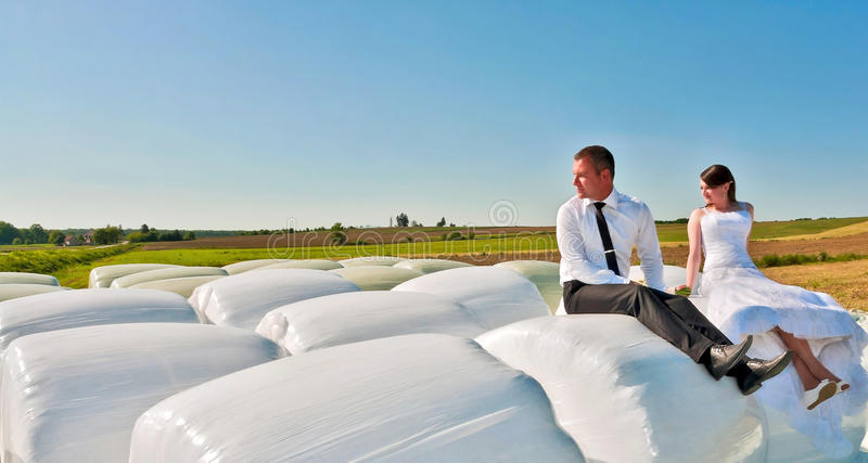 Sitting on the clouds stock photography
