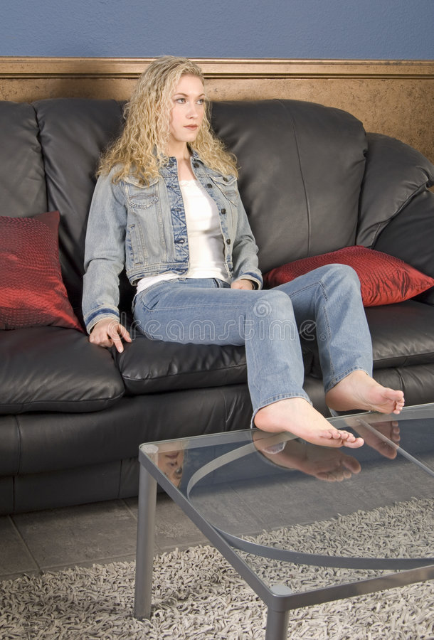Sitting on the Couch stock photos
