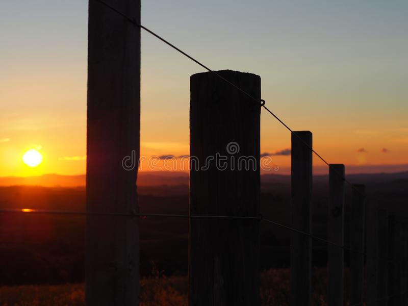 New Zealand Sunset on the family farm royalty free stock images