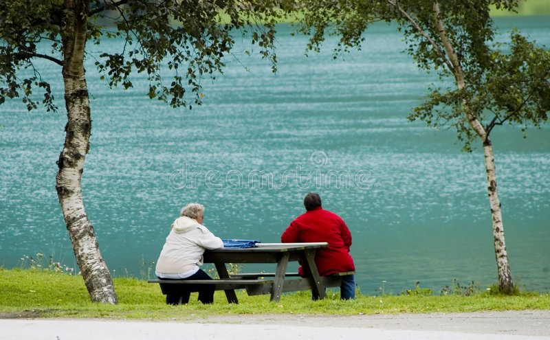Download Sitting at fjord stock image. Image of looking, river - 2997517
