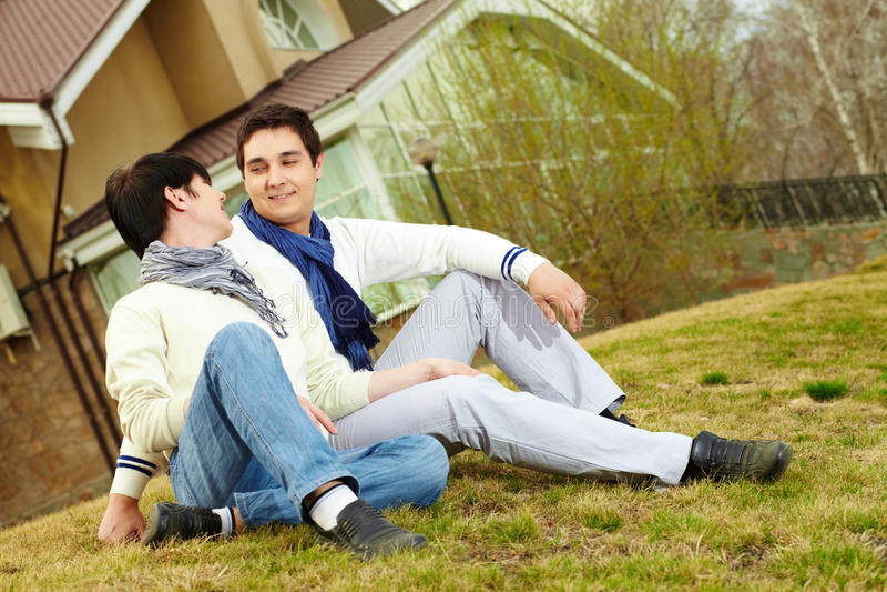 Download Sitting on gassy slope stock image. Image of flirting - 27380713