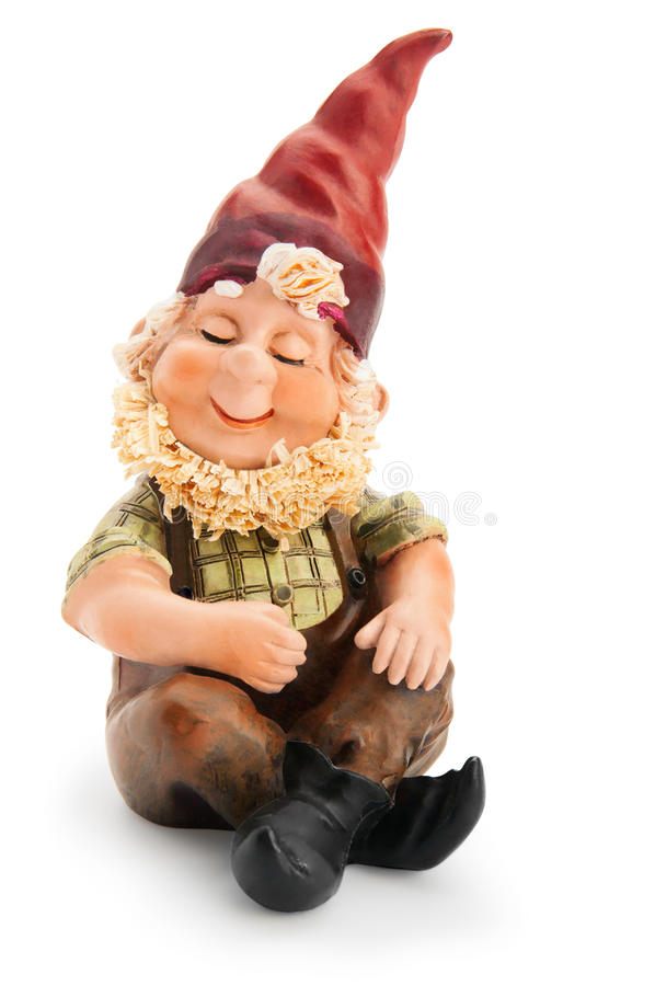 Sitting Gnome. stock photo