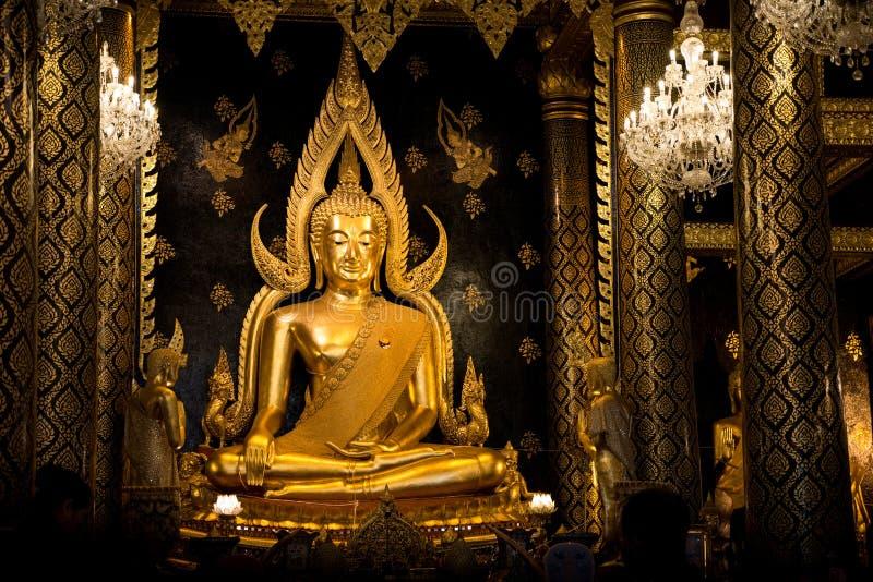 Phitsanulok golden buddha statue royalty free stock image