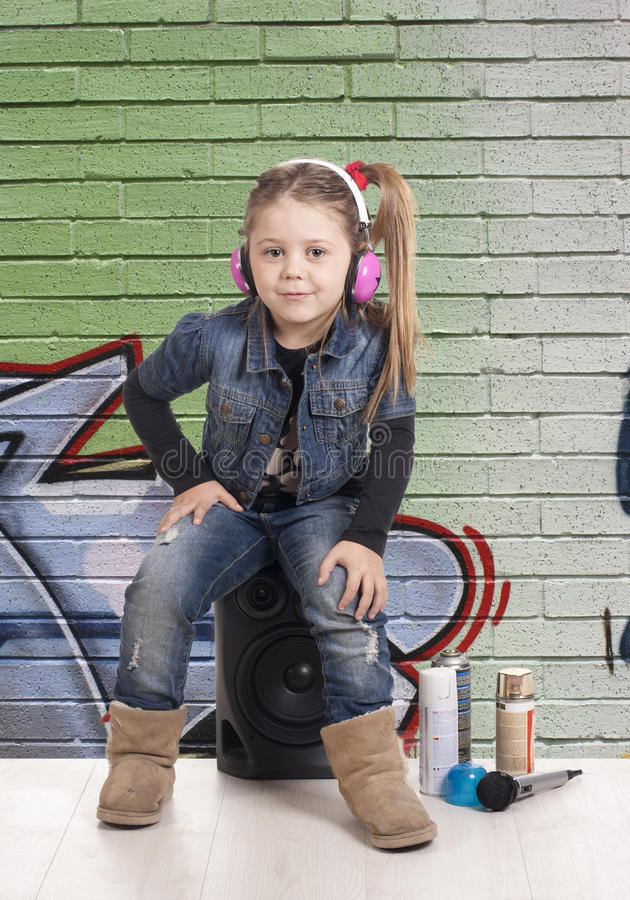 Sitting graffiti stock image