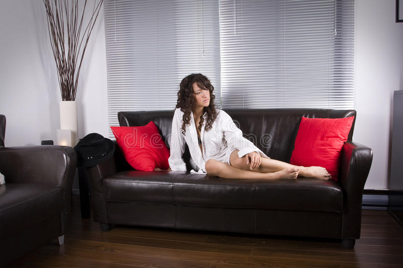 Sitting Home Relax Stock Photo