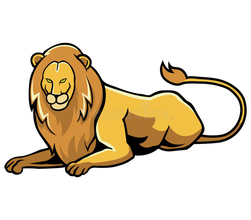 Sitting lion vector illustration
