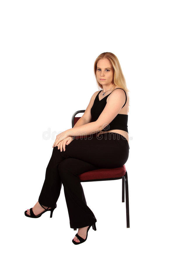 Sitting model royalty free stock photos