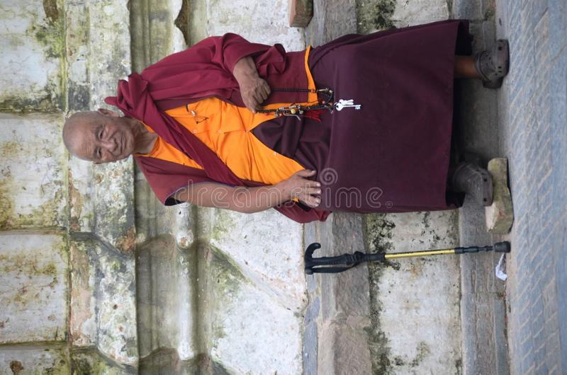 Download Sitting monk editorial image. Image of people, blessing - 21705340
