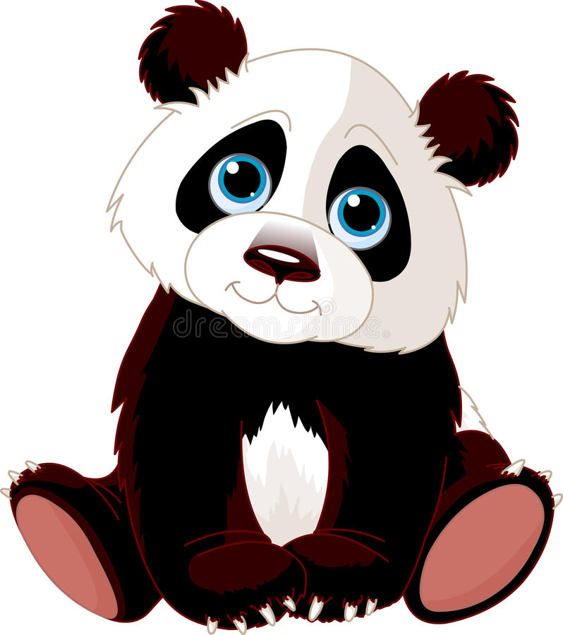 Sitting Panda vector illustration