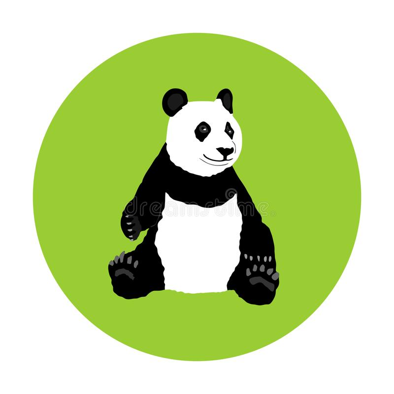 Sitting panda vector illustration isolated on background. stock illustration