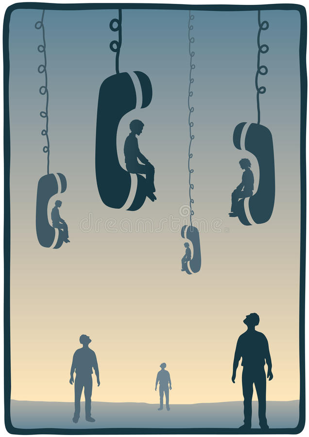 Download Sitting on the phone stock vector. Illustration of connect - 29536542