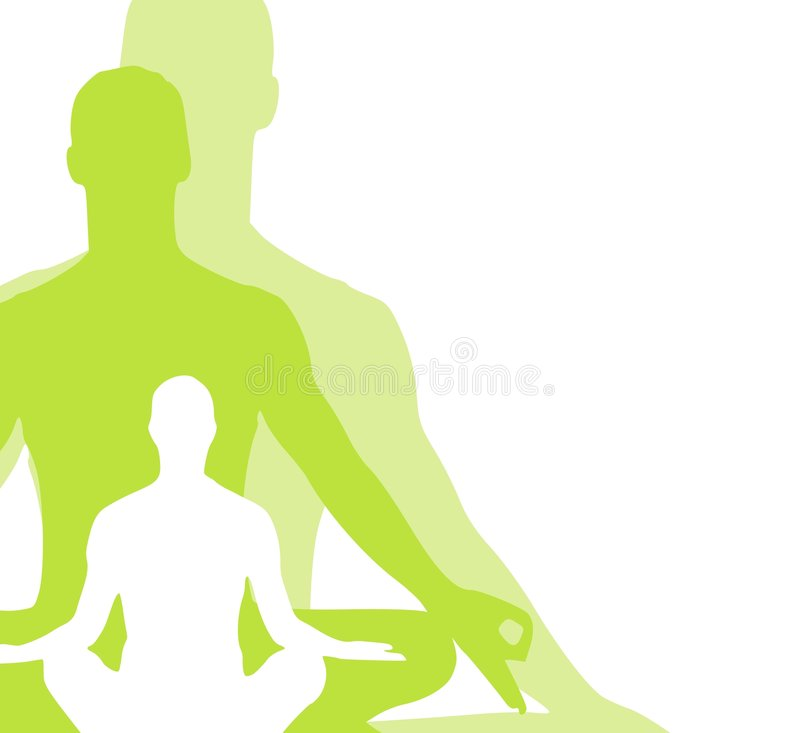 Free Sitting Position Yoga Figures 2 Royalty Free Stock Photo - 4609425