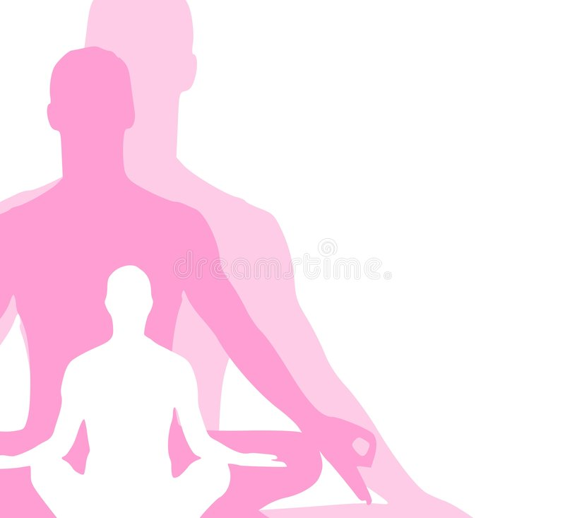 Sitting Position Yoga Figures 3 royalty free illustration