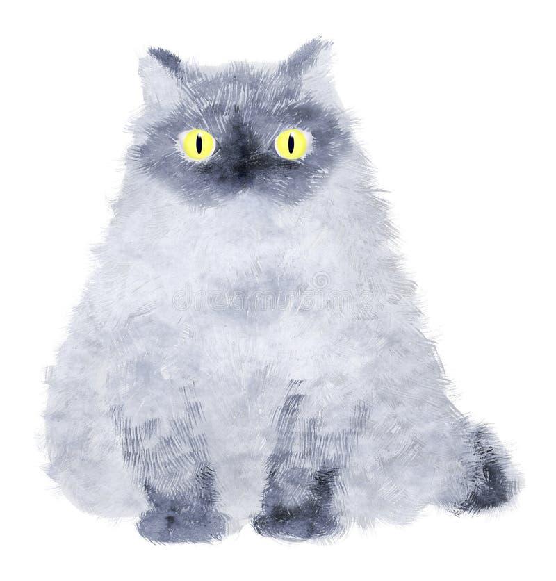 Free Sitting Pretty - Blue Cat On W Royalty Free Stock Photos - 3008488