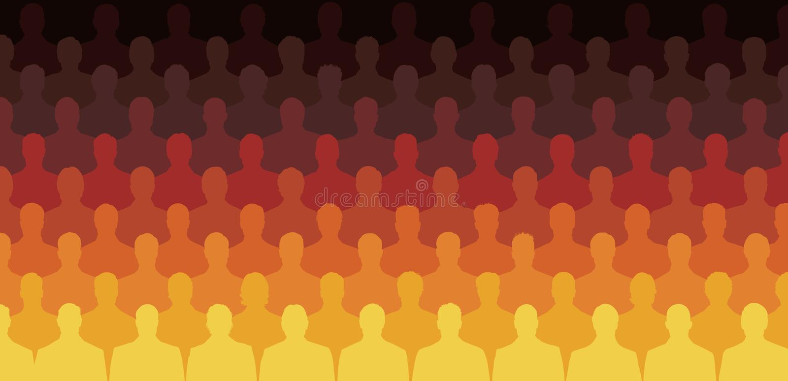 Sitting Silhouette People Stock Vector - Image: 39873088