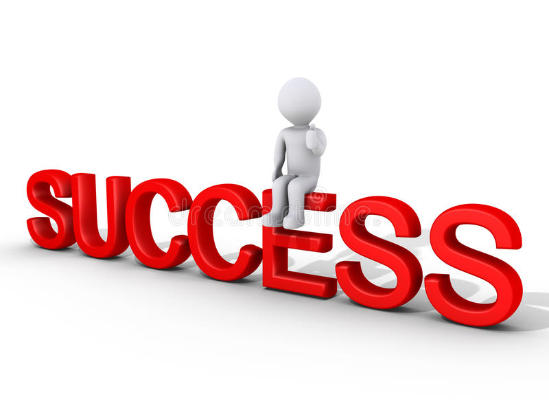Download Sitting on success stock illustration. Image of opportunity - 23359270