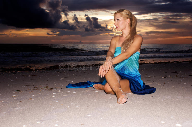 Download Sitting at sunset stock image. Image of outside, ocean - 11351141