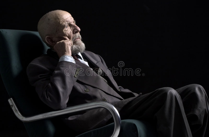 Sitting and thinking stock photography
