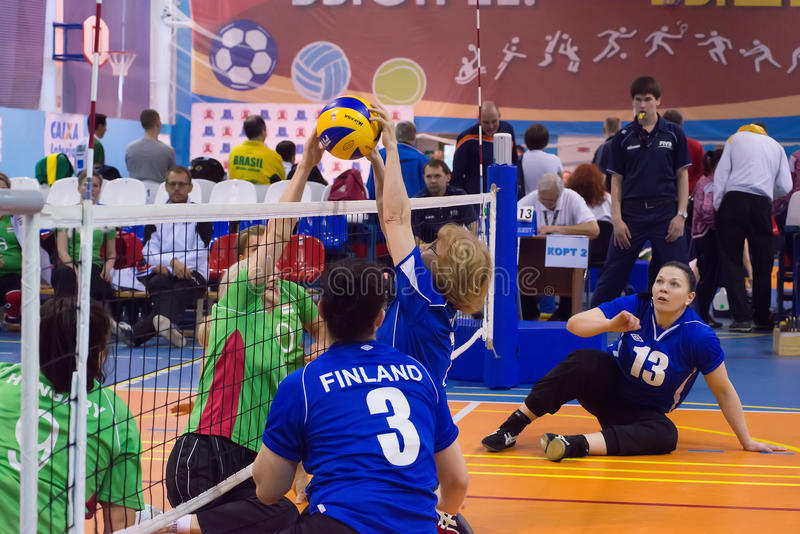 Sitting volleyball royalty free stock images
