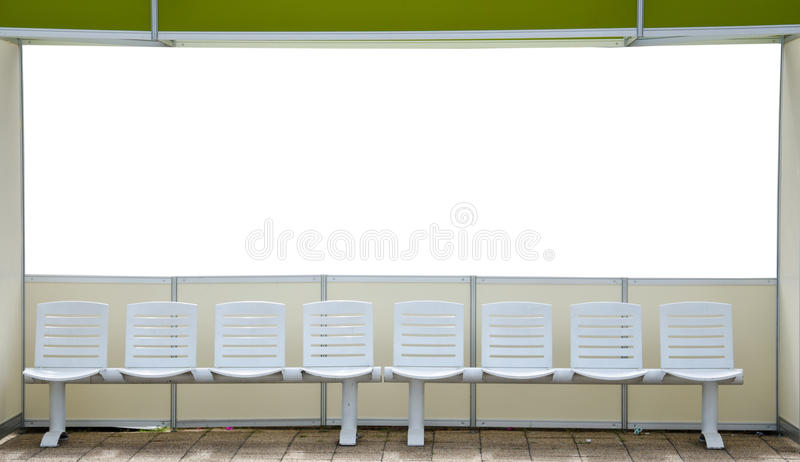 Sitting on white blackground. Seating for people waiting for service stock image
