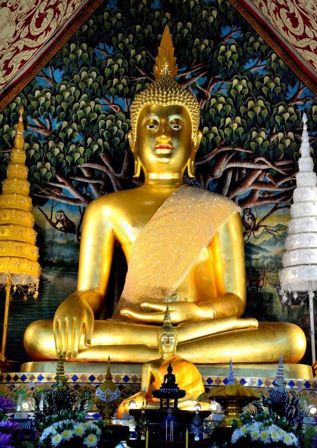 Sittingb bonito do ouro das imagens da Buda imagens de stock royalty free
