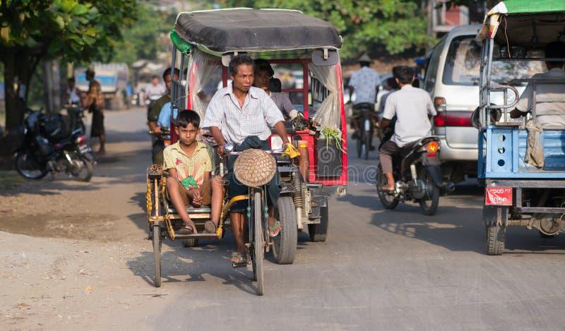Sittwe, a capital do estado de Rakhine em Myanmar imagens de stock