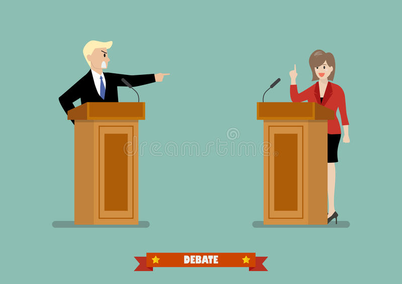 Situação de dois homens de negócios ilustração do vetor