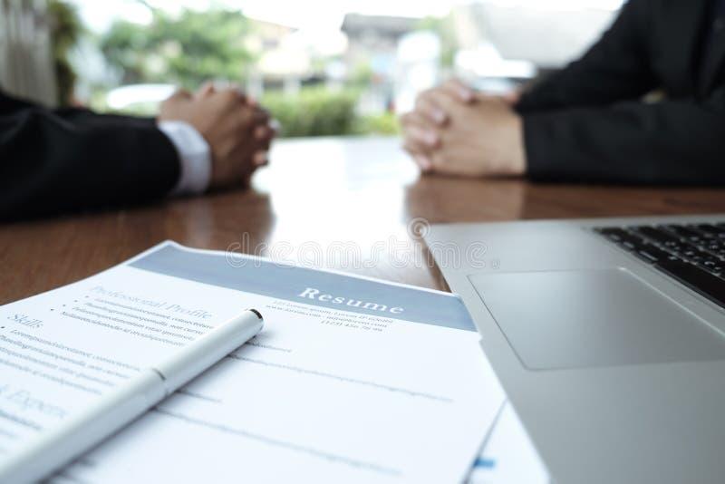 Situação de negócio, conceito da entrevista de trabalho imagem de stock royalty free