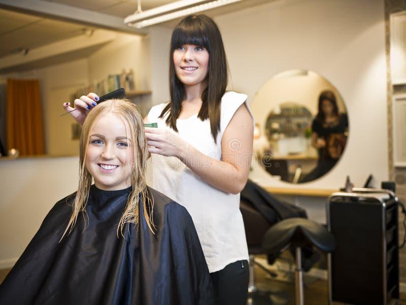Situação do salão de beleza do cabelo imagem de stock royalty free