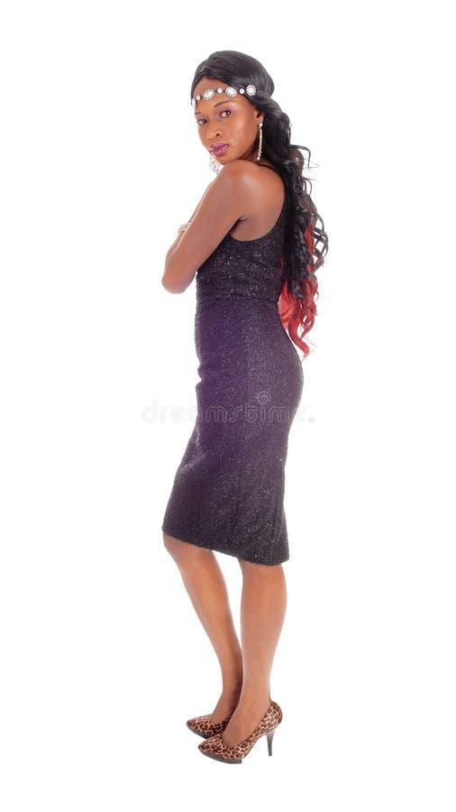 Situación afroamericana bonita de la mujer imagen de archivo libre de regalías