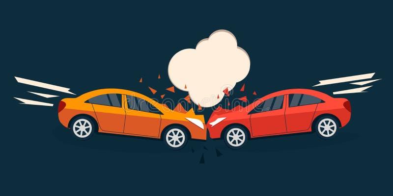 Situación del camino del accidente stock de ilustración