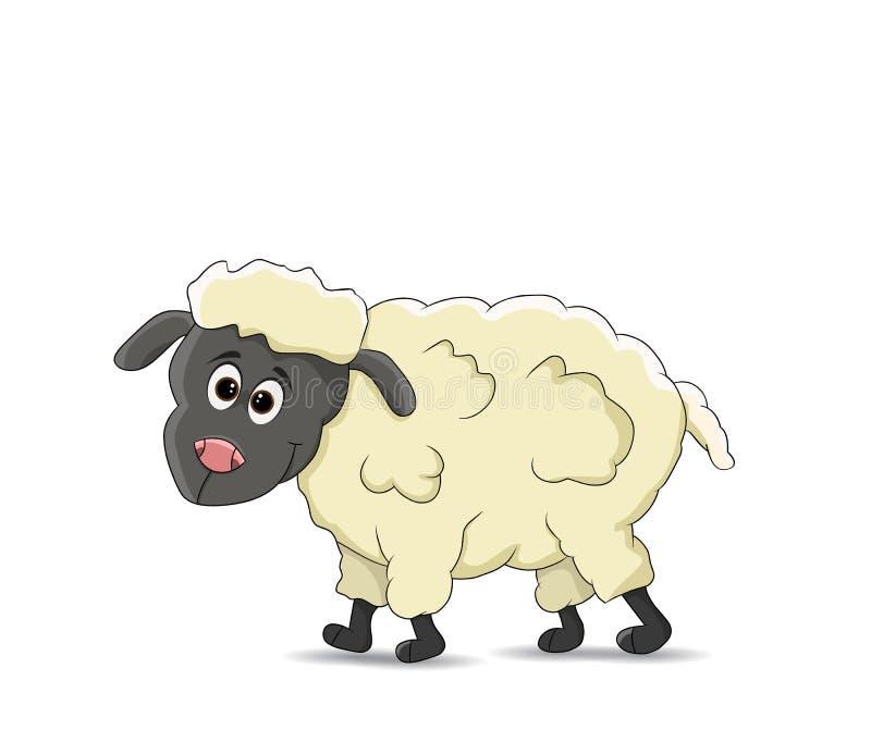 Situación divertida de las ovejas del catoon libre illustration