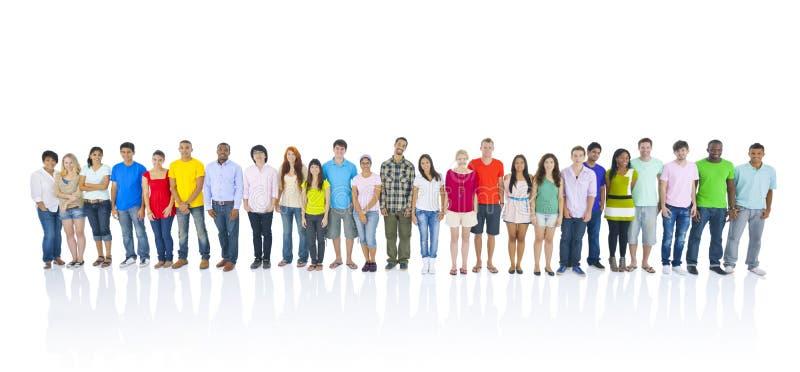 Situación grande del grupo de personas fotos de archivo