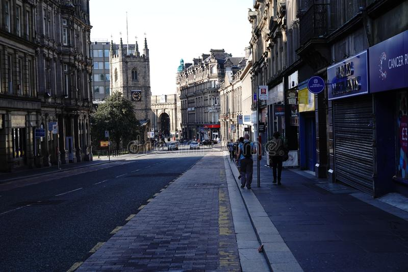 Newcastle upon Tyne Grainger Street stock photos