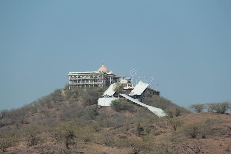 Temple of Hindu godess Chauth Mata royalty free stock photos