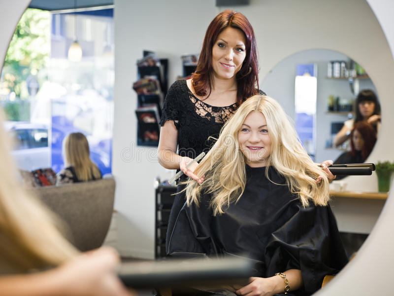 Situazione del salone di capelli fotografie stock