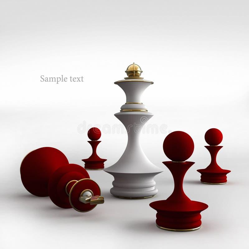 Situazione di scacchi fotografia stock