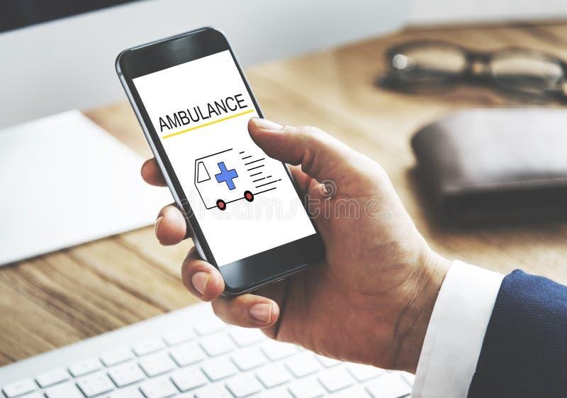 Situazione urgente di emergenza accidentale dell'ambulanza immagini stock libere da diritti