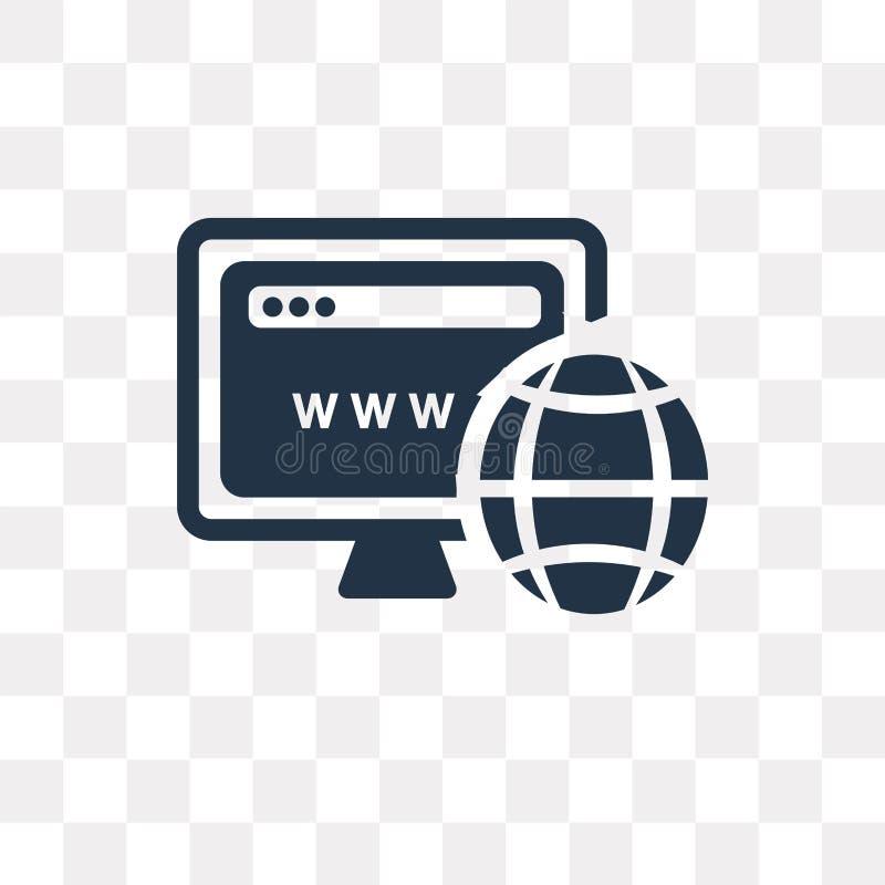 Situez l'icône de vecteur d'isolement sur le fond transparent, transport de site illustration stock